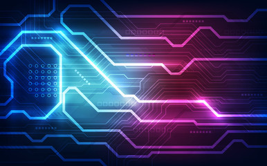 Abstract technology circuit board background. vector illustration.