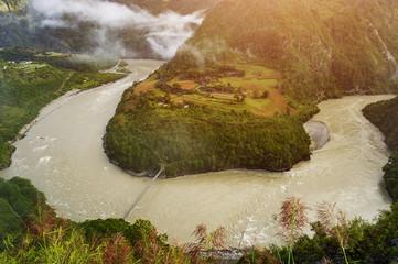 Nujiang canyon in yunan, China