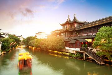 Wall Mural - Nanjing Confucius Temple night view