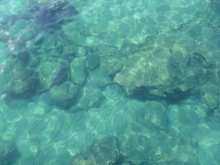 Meeresgrund, klares Wasser