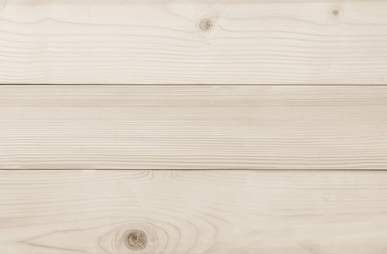 White Finland pine wood texture horizontal pattern background in light beige cream pastel color