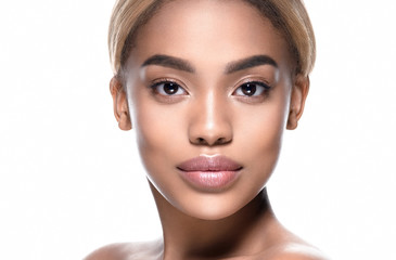 d8358433d6 African black skin woman beauty face with healthy skin oung model portrait