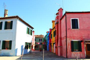 Streets of Burano, Italy