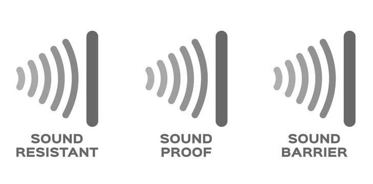 sound proof , resistant , barrier vector / icon