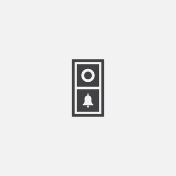 video doorbell icon. Simple element illustration