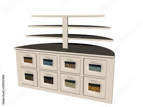 Küchenregal Mit Vielfältigen Schubladen