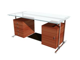Büro Schreibtisch mit Glasplatte