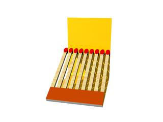 Gelbes Streichholzbriefchen