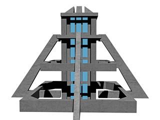 Futuristisches Bauwerk