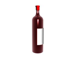 Flasche mit Rotwein