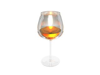 Weinglas mit Rotwein