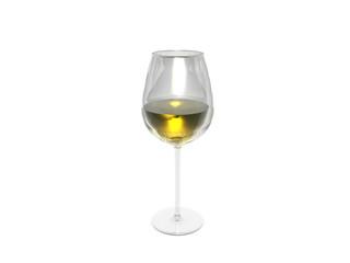 Kelchglas mit Weiswein