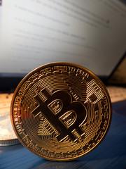 Bitcoin. BTC Cryptocurrency.  Digital coin