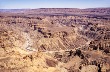 Fish River Canyon, world's second largest canyon - South Namibia. Wall mural
