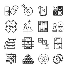 Board games icon set isolated on white background