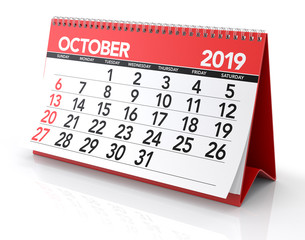 October 2019 Calendar.