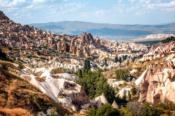 Beautiful bright landscape Cappadocia in Central Anatolia is a UNESCO World Heritage  Turkey