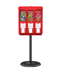 Candy Gumball Machine Isolated
