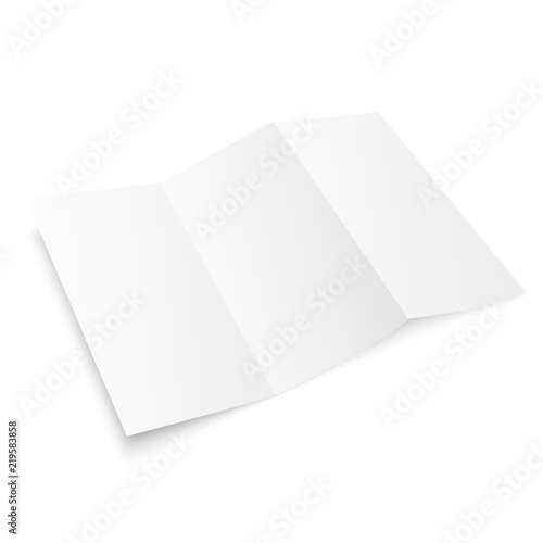 tri fold brochure mock up blank brochure white template paper