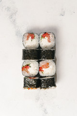 Closeup sushi roll