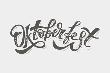 Oktoberfest lettering Calligraphy Brush Text Holiday Sticker
