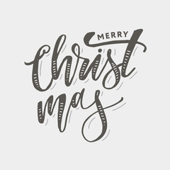 Christmas lettering Calligraphy Brush Text Holiday Sticker