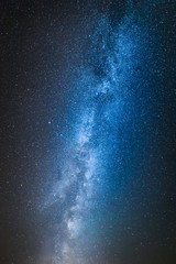 Blue and white milky way with million stars
