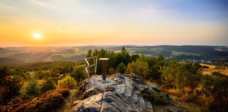 Aussichtspunkt Schwartenberg im Erzgebirge