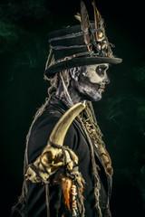 skull profile of man