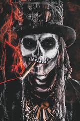 smoking baron in hat