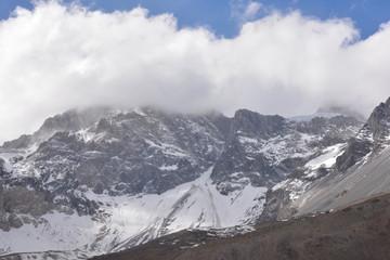 landscape of mountain snow
