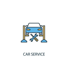 car service concept 2 colored line icon. Simple yellow and blue element illustration. car service concept outline symbol design from Car service set