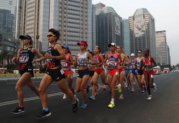Athletics - 2018 Asian Games - Women's Marathon Final
