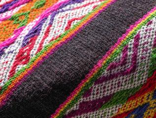 Peruvian poncho detail