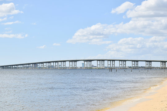 Biloxi Bay Bridge connecting Ocean Springs and Biloxi, Mississippi