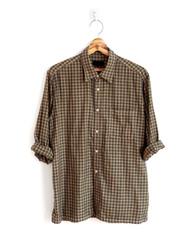 Plaid shirt long sleeve isolated on a white background.
