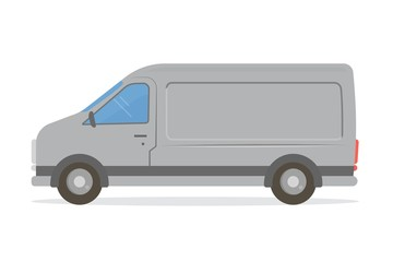 Van mock-up. Design template for various services: delivery, repair, tech support, isolated on white background. Vector illustration.