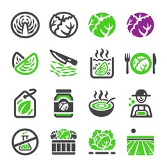 cabbage icon set