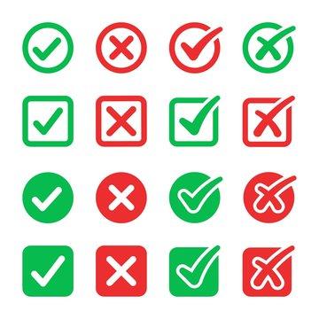 checkmark icon set