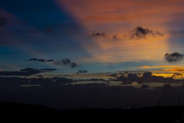 夕陽 グラデーション
