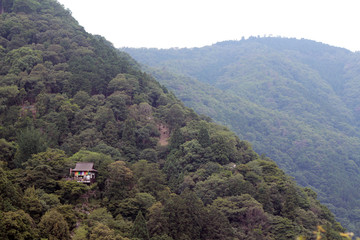 Mountain Hut in the Steep Kyoto Hills