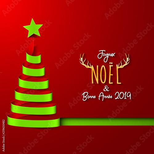 Image De Joyeux Noel 2019.Joyeux Noel Bonne Annee 2019 Stock Photo And Royalty Free