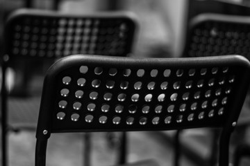 The black chairs