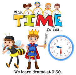 Students learn drama at 9:30