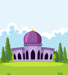 A beautiful mosque template