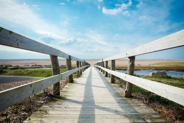 Walkway to Chesil beach, Dorset, Uk