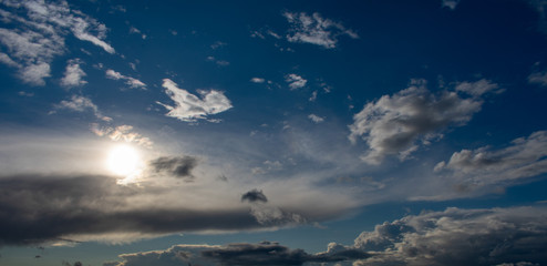 Wolkenhimmel mit Sonne