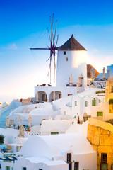 Fototapeta View of Oia the most beautiful village of Santorini Island in Greece. obraz