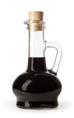 Soy sauce bottle isolated on white background with clipping path