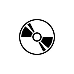 Compact Disc, DVD or CD Storage. Flat Vector Icon illustration. Simple black symbol on white background. Compact Disc, DVD or CD Storage sign design template for web and mobile UI element
